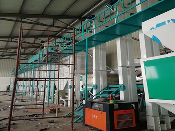 Rice milling equipment install and put into production in Panjin,Liaoning province,China