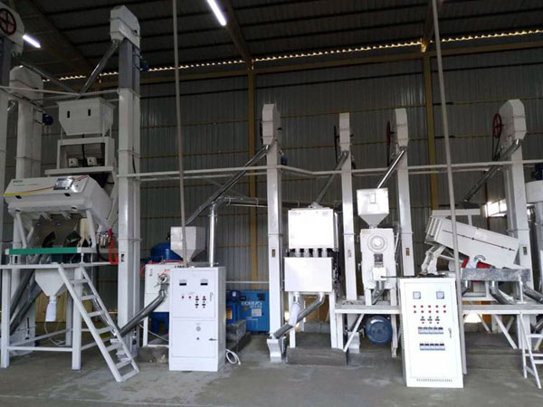 30-40T/D rice mill machine installed in Philippines