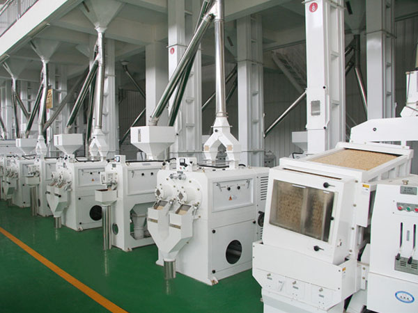 Complete set rice processing machine