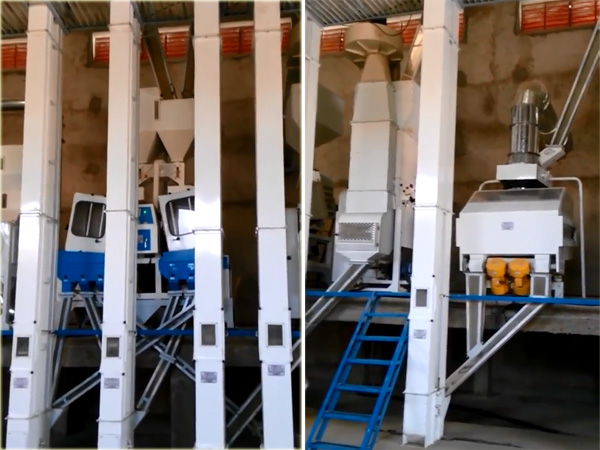 100 TPD rice mill plant after installation and working smoothly