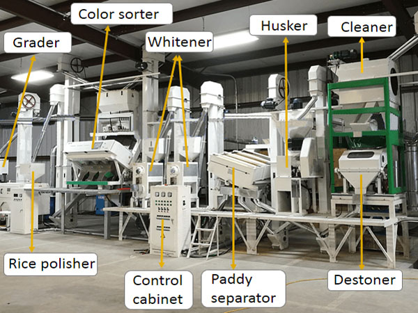 rice mill plant machines